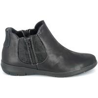 Sapatos Mulher Botas baixas Boissy Boots Noir texturé Preto
