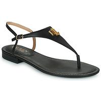 Sapatos Mulher Sandálias Lauren Ralph Lauren ELLINGTON SANDALS CASUAL Preto