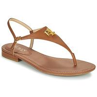 Sapatos Mulher Sandálias Lauren Ralph Lauren ELLINGTON SANDALS CASUAL Conhaque