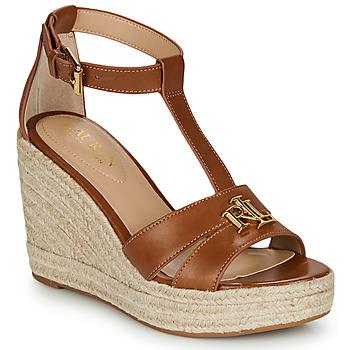 Sapatos Mulher Sandálias Lauren Ralph Lauren HALE ESPADRILLES CASUAL Conhaque
