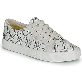 Sapatos Mulher Sapatilhas Lauren Ralph Lauren JAYCEE NE SNEAKERS VULC Creme