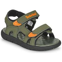 Sapatos Criança Sandálias Timberland PERKINS ROW 2-STRAP Verde / Laranja