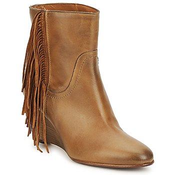 Sapatos Mulher Botins JFK ALEX HI Camel