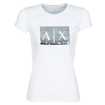 Textil Mulher T-Shirt mangas curtas Armani Exchange HANEL Branco