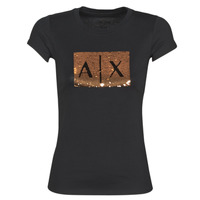 Textil Mulher T-Shirt mangas curtas Armani Exchange HONEY Preto