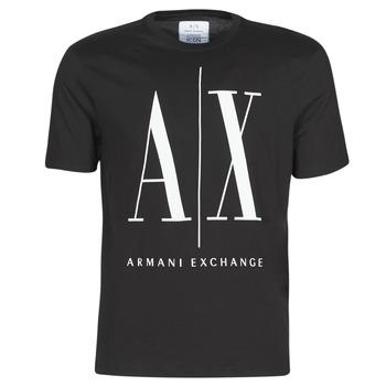 Textil Homem T-Shirt mangas curtas Armani Exchange HULO Preto
