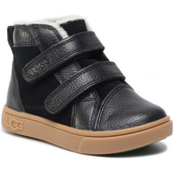 Sapatos Criança Sapatilhas de cano-alto UGG RENNON 2 Noir