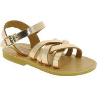 Sapatos Rapariga Sandálias Attica Sandals HEBE CALF GOLD PINK Oro rosa