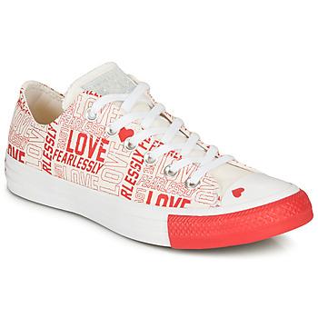 Sapatos Mulher Sapatilhas Converse CHUCK TAYLOR ALL STAR - OX Branco / Vermelho