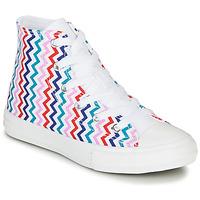 Sapatos Rapariga Sapatilhas de cano-alto Converse CHUCK TAYLOR ALL STAR VLTG - HI Branco / Azul / Vermelho
