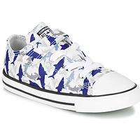 Sapatos Rapaz Sapatilhas Converse CHUCK TAYLOR ALL STAR 1V SHARK BITE - OX Azul / Branco
