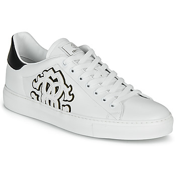 Sapatos Homem Sapatilhas Roberto Cavalli 1005 Branco / Preto