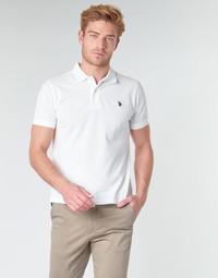 Textil Homem Polos mangas curta U.S Polo Assn. INSTITUTIONAL POLO Branco
