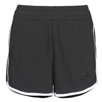 Textil Mulher Shorts / Bermudas Converse TWISTED VARSITY SHORT Preto
