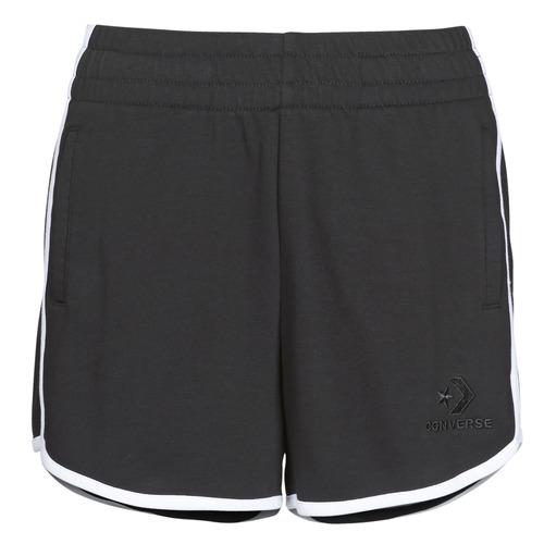 Textil Mulher Shorts / Bermudas Converse TWISTED VARSITY SHORT Preto