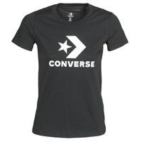 Textil Mulher T-Shirt mangas curtas Converse Star Chevron Tee Converse / Preto