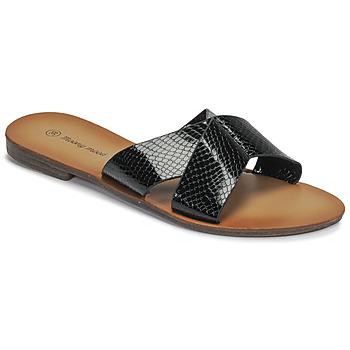 Sapatos Mulher Chinelos Moony Mood MADISON Preto