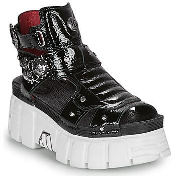 Sapatos Mulher Sandálias New Rock LIYA Preto / Branco