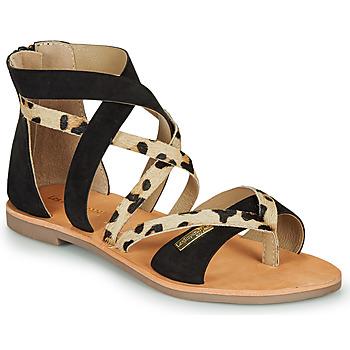 Sapatos Mulher Sandálias Les Tropéziennes par M Belarbi POPS Preto / Leopardo