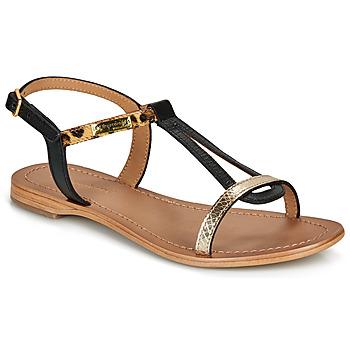 Sapatos Mulher Sandálias Les Tropéziennes par M Belarbi HAMAT Preto / Leopardo