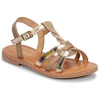 Sapatos Rapariga Sandálias Les Tropéziennes par M Belarbi BADAMI Bege / Dourado