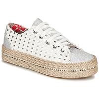 Sapatos Mulher Sapatilhas Café Noir MERYOU Branco / Prateado