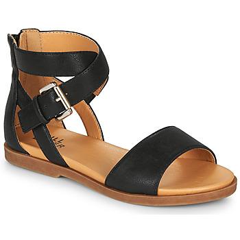 Sapatos Rapariga Sandálias Bullboxer MELISSA Preto