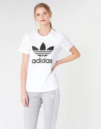 Textil Mulher T-Shirt mangas curtas adidas Originals TREFOIL TEE Branco