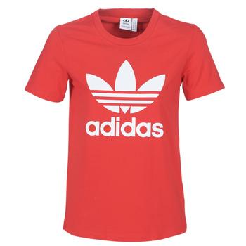 Textil Mulher T-Shirt mangas curtas adidas Originals TREFOIL TEE Vermelho