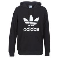 Textil Mulher Sweats adidas Originals TRF HOODIE Preto