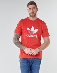 Textil Homem T-Shirt mangas curtas adidas Originals TREFOIL T-SHIRT Vermelho