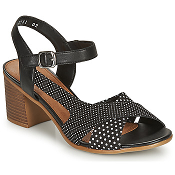 Sapatos Mulher Sandálias Remonte Dorndorf MOSKI Preto / Branco