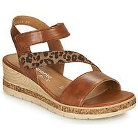 Sapatos Mulher Sandálias Remonte Dorndorf HERNENDEZ Conhaque / Leopardo