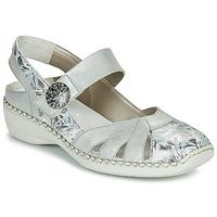 Sapatos Mulher Sandálias Rieker KYLIAN Prata