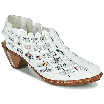 Sapatos Mulher Botas baixas Rieker KANIN Branco / Multicolor