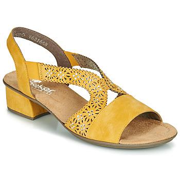 Sapatos Mulher Sandálias Rieker NOUCK Amarelo