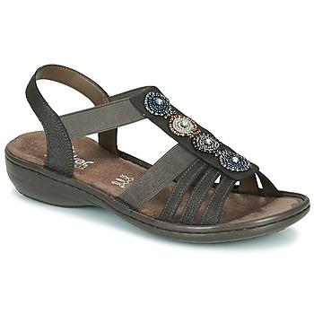 Sapatos Mulher Sandálias Rieker ANOUCK Preto