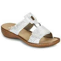 Sapatos Mulher Sandálias Rieker MOLLY Prata