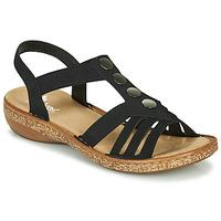 Sapatos Mulher Sandálias Rieker NEX Preto