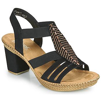 Sapatos Mulher Sandálias Rieker ROOT Preto