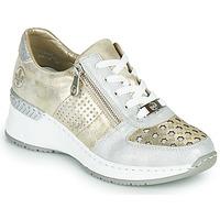 Sapatos Mulher Sapatilhas Rieker LEA Ouro / Prata
