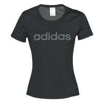 Textil Mulher T-Shirt mangas curtas adidas Performance D2M LO TEE Preto