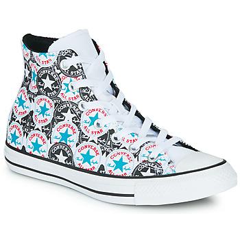 Sapatos Mulher Sapatilhas de cano-alto Converse CHUCK TAYLOR ALL STAR LOGO PLAY Branco / Preto / Multi