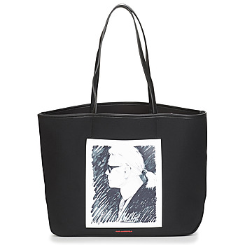 Malas Cabas / Sac shopping Karl Lagerfeld KARL LEGEND CANVAS TOTE Preto