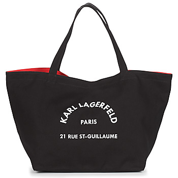 Malas Mulher Cabas / Sac shopping Karl Lagerfeld RUE ST GUILLAUE CANVAS TOTE Preto