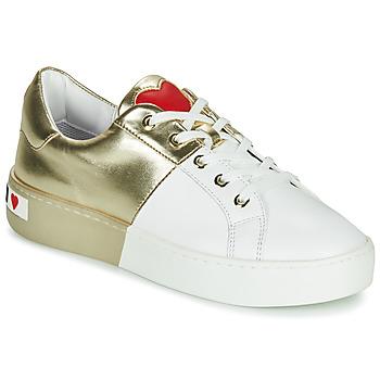 Sapatos Mulher Sapatilhas Love Moschino BI-COLOR SHOES Branco / Ouro