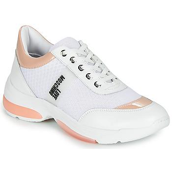 Sapatos Mulher Sapatilhas Love Moschino RUN LOVE Branco / Rosa