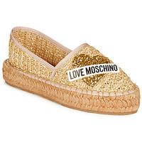 Sapatos Mulher Alpargatas Love Moschino JA10393G0A Bege