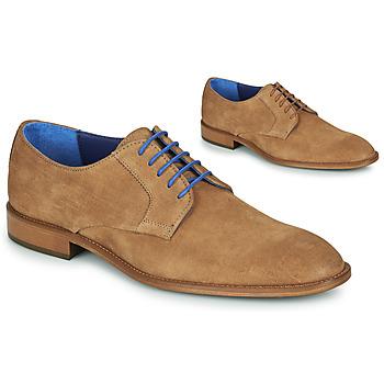 Sapatos Homem Sapatos Azzaro ZENOU Conhaque