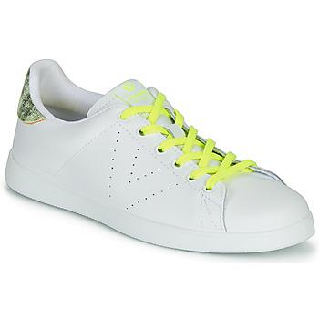 Sapatos Mulher Sapatilhas Victoria TENIS PIEL FLUO Branco / Amarelo